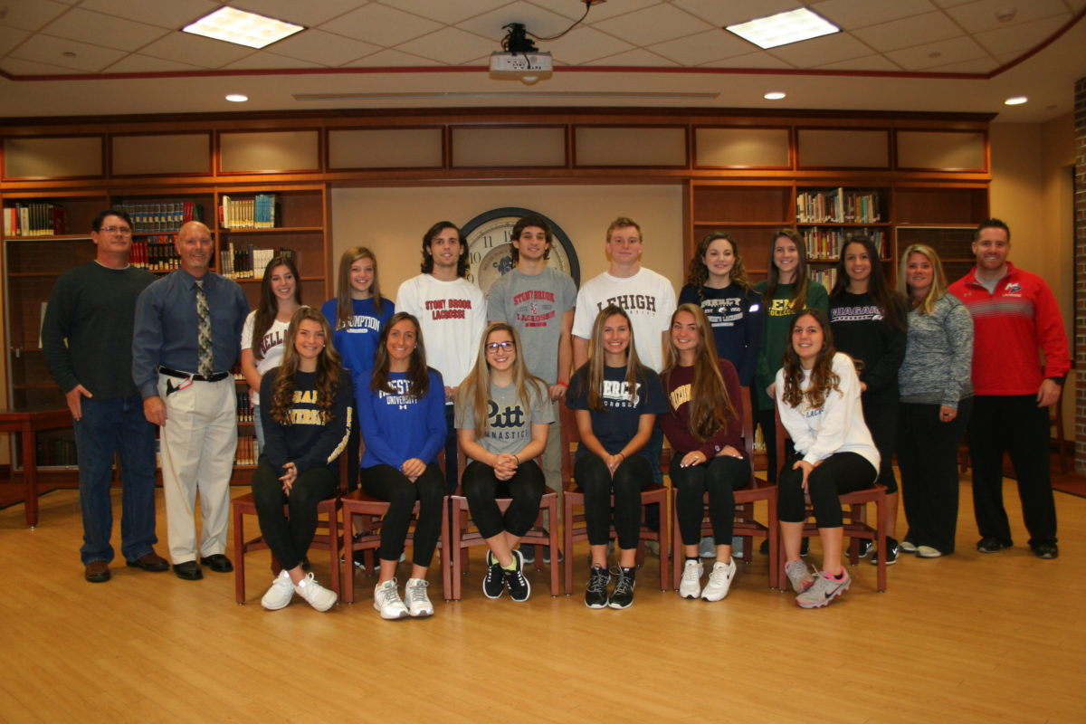 Miller Place High School Students Sign Letters of Intent
