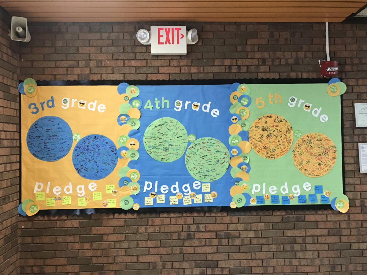 Miller Place Elementary School Students Create Wall of Positivity