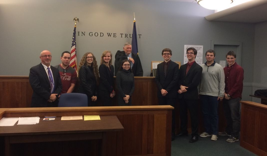 Miller Place High School Mock Trial Students Celebrate Victory